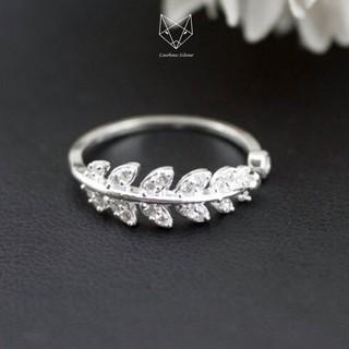 Nhẫn Bạc Ta S99 CaoBac Silver Hình Chiếc Lá Phong Cách Hàn Quốc Cho Nữ - Trang Sức Cáo Bạc JEWELLERY thumbnail