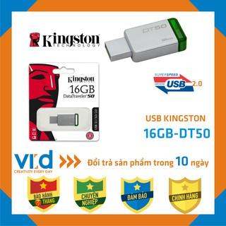 [Mã ELFLASH5 giảm 20K đơn 50K] [CHÍNH HÃNG] USB kingston 16GB 2.0 Data Traveler 50 - Bảo hành 60 tháng!!!