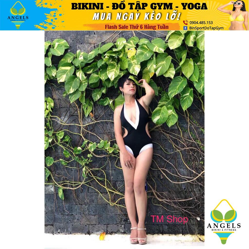 Bikini,Bộ Đồ Bơi Một Mảnh Body Khoét Eo, Viền Trắng BHV029