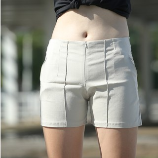 quần short kaki nữ siêu giản phối khóa kéo thời trang hàn quốc