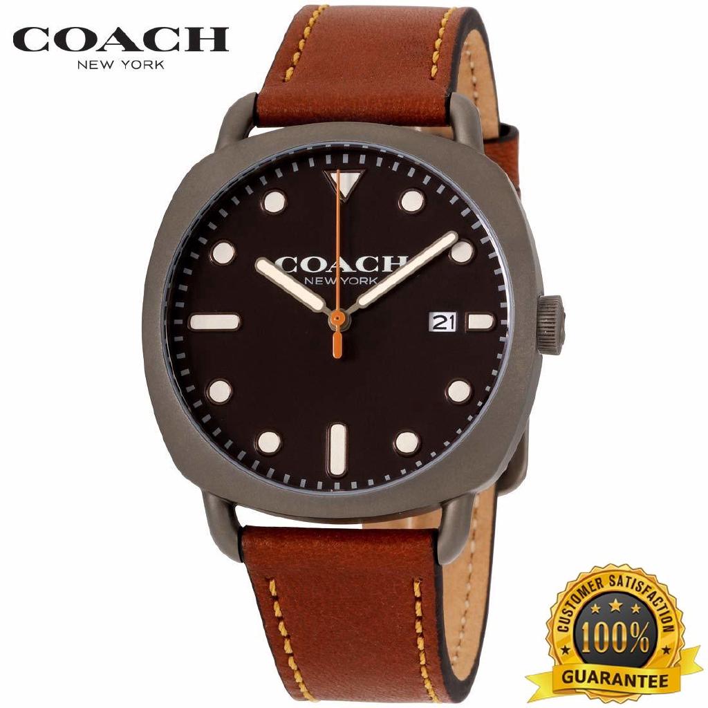 COACH ของแท้ของผู้ชายนาฬิกาแบรนด์เนมทาทั่ม - 14602140 นาฬิกาโค้ชเดิม