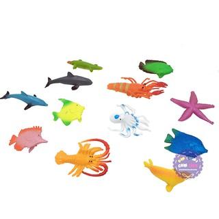[Nhập mã TOYJUNE giảm 10K]Bộ đồ chơi các loài sinh vật biển nhỏ bằng nhựa Thành Lộc