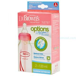 Combo 2 bình sữa 120ml nhựa pp options