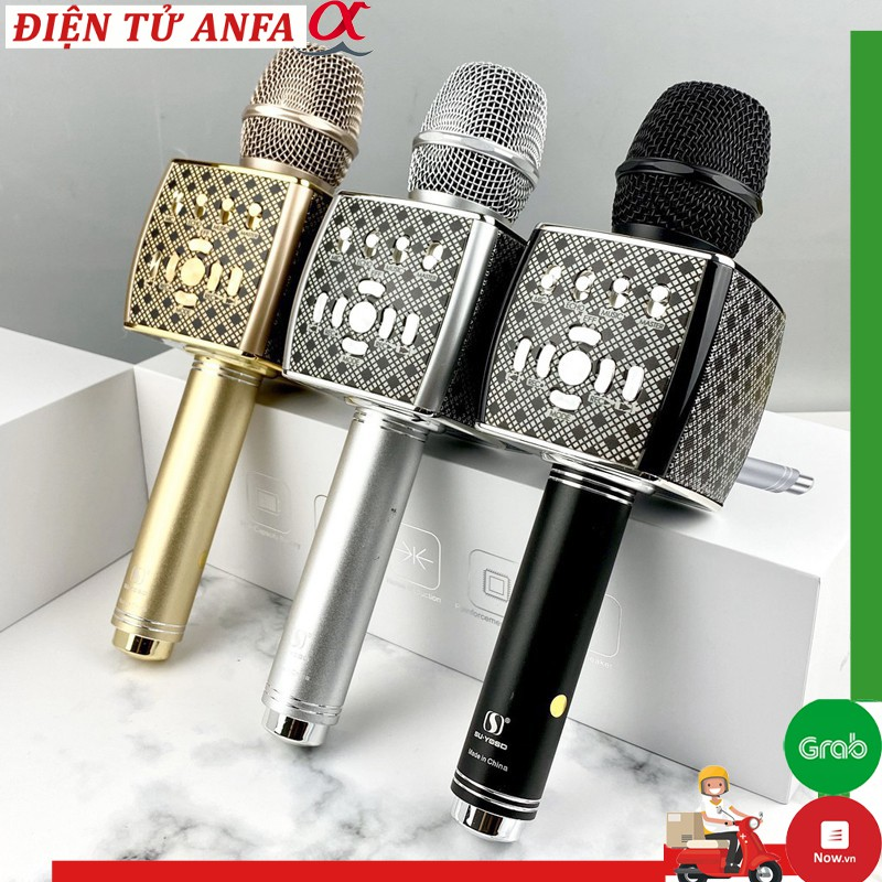 Micro karaoke bluetooth Cao Cấp YS-95 Mic hát karaoke Tích Hợp Loa Bass Không Dây Dùng Hát Tại Nhà - Livetream