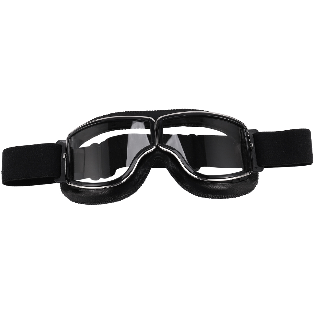 Retro Motorcycle Goggles Glasses Cruiser Motorcycle Goggles Vintage Leather for Harley Glasses Clean