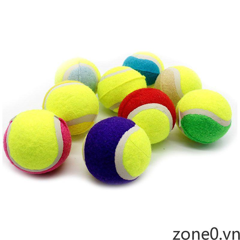 Tennis Balls Dog Squeaker Ball Fetch Toy Elastic Ball Natural Rubber Ball