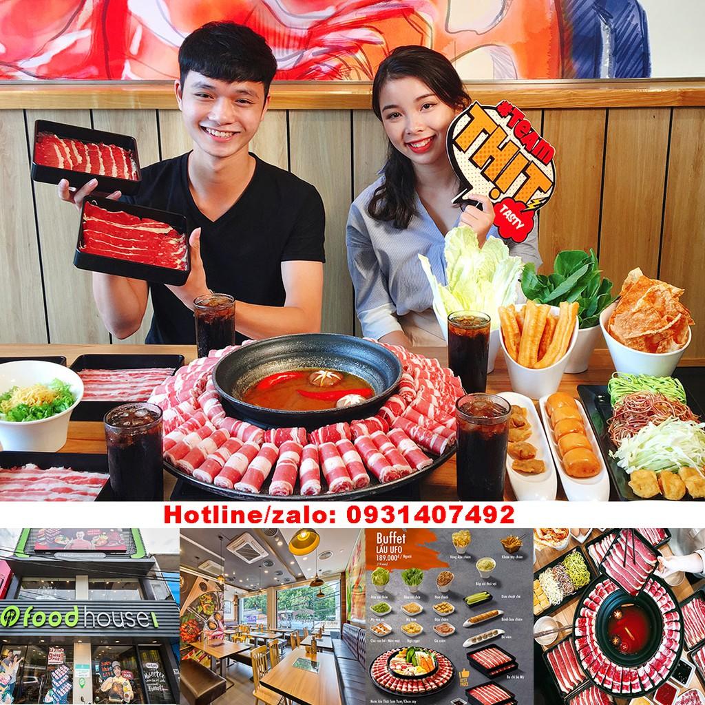 Toàn Quốc [E-Voucher] Buffet Lẩu trên đĩa bay khổng lồ Nhà hàng Food House độc nhất tại Việt Nam áp dụng toàn quốc