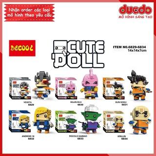 DECOOL 6829-6834 Brick Headz Dragon Ball độc quyền - Đồ chơi Lắp ghép Xếp hình Mô hình Mini Minifigures BrickHeadz thumbnail