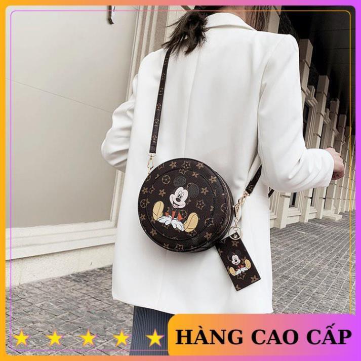 Túi tròn mini đeo chéo túi tròn chuột Mickey SATA mẫu mới nhất hàng đẹp TRONGMIC03 + ảnh thật