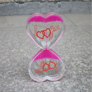 Floating Colored Oil Liquid Bubbler Motion Timer Hourglass Relief Toy Heart