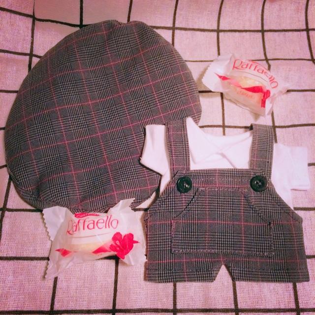 Outfit doll 20cm -15cm- SET yếm caro doll