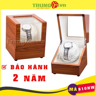 Hộp Đựng Đồng Hồ Cơ 1 Xoay Vỏ Gỗ Sơn Mài - Mã 810HW SAIKE thumbnail