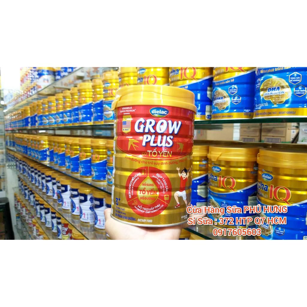 Sữa GROW Plus tổ yến Lon 900gam tặng Bô Lô