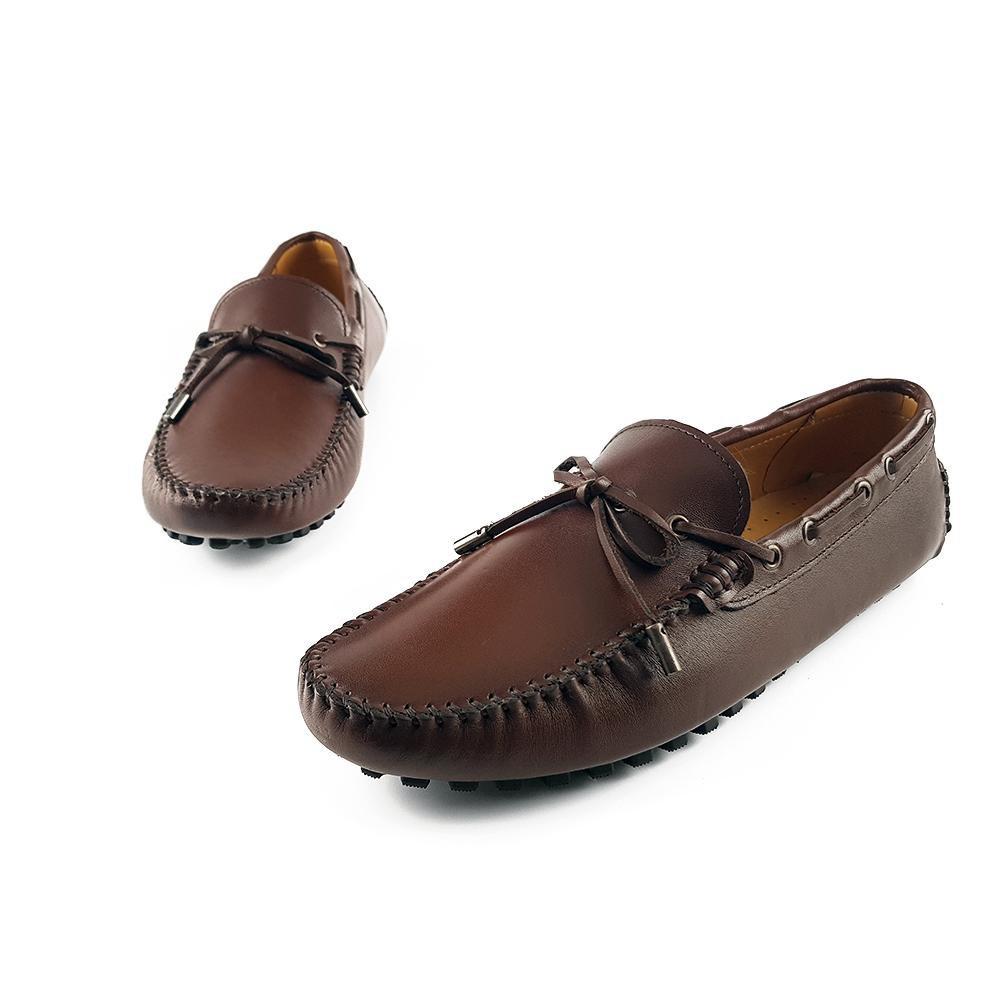 Giày lười nam cao cấp da bò thật 100% GM16AZ (Nâu)