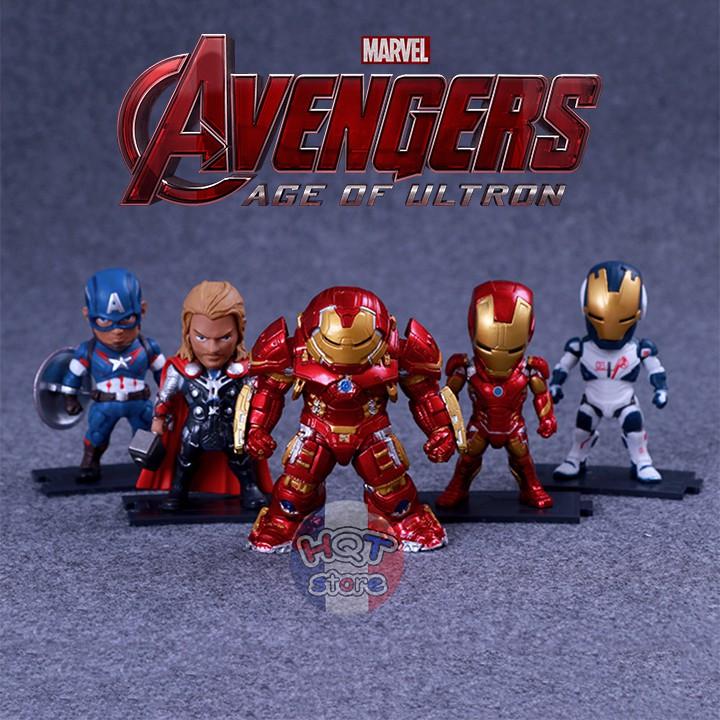 [Nhập TOYHERO giảm còn 228k] Mô hình siêu anh hùng Marvel Avengers 5 Nhân Vật - Age Of Ultron - Civil War - Infinity War