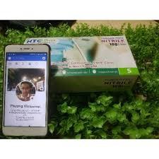 [CAM KẾT HÀNG CHẤT LƯỢNG]Găng tay cao su nitrile y tế không bột   hộp 100c dùng trong spa thẫm mỹ viện phun x