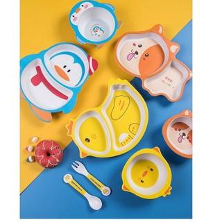 ✼➸ Bộ dụng cụ bàn ăn bằng tre cho bé