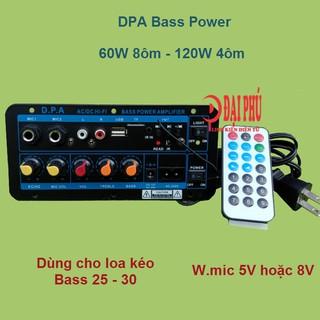 Mạch loa kéo công suất 100W - 150W cho loa 2.5 tấc - 3 tấc Bluetooth Karaoke DPA2