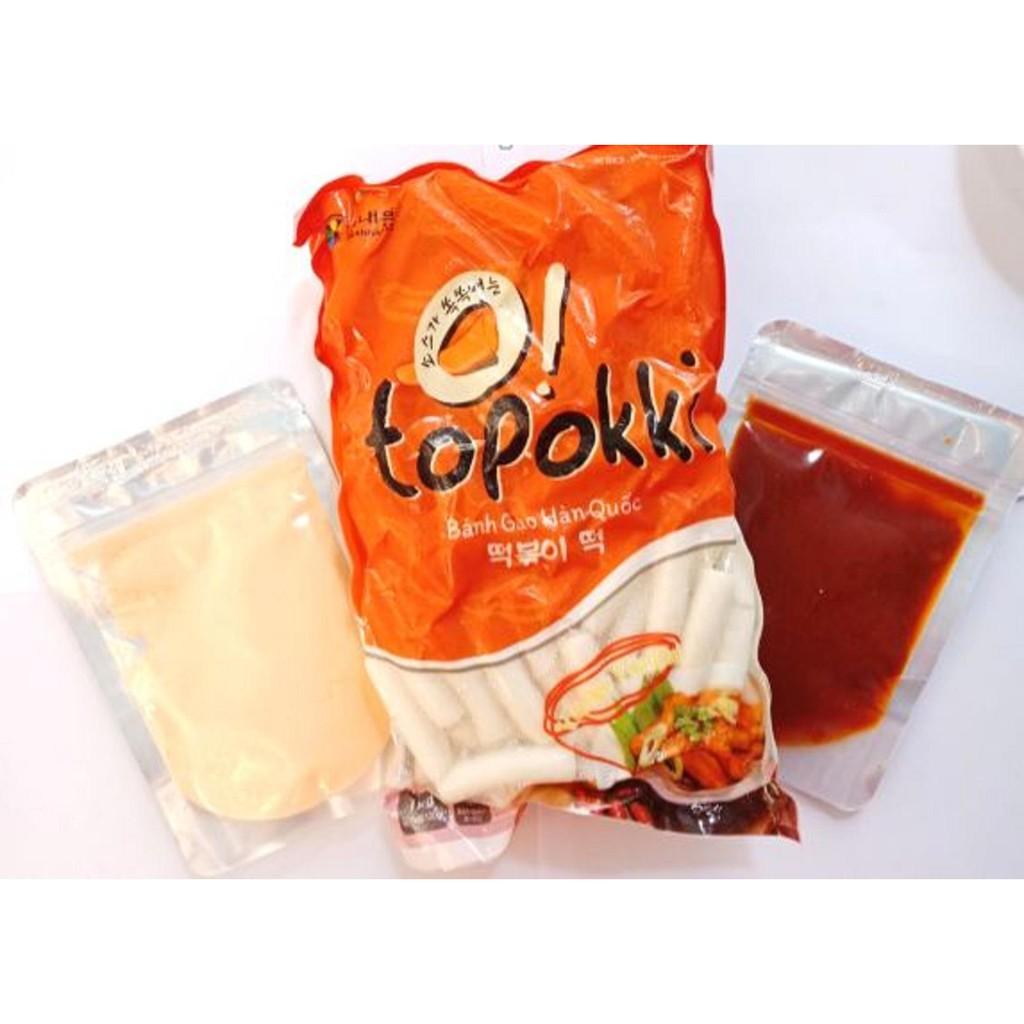 {MUA 1 ĐƯỢC 3} combo tobokki Hàn Quốc kèm phô mai và nước sốt
