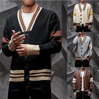 Áo khoác cardigan cổ v dài tay thời trang