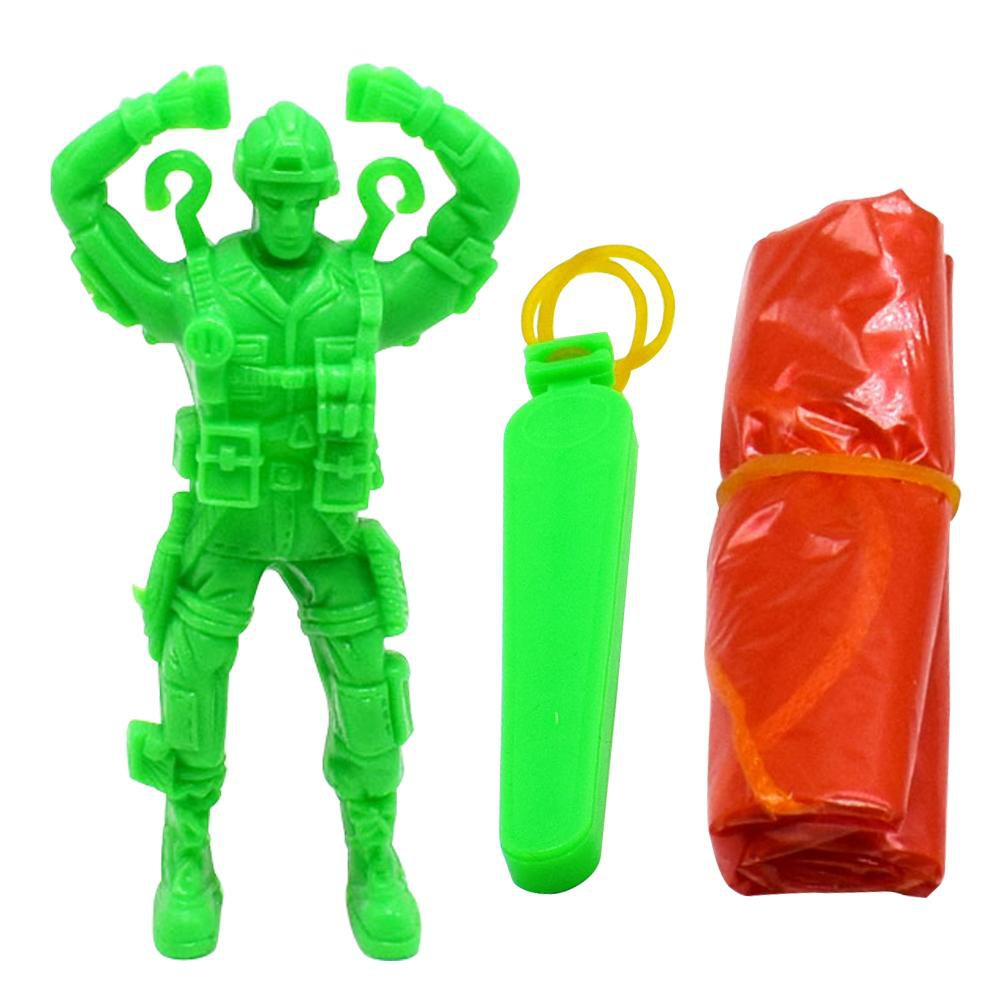 [tmy] Plastic Ejecting Parachute Toy Outdoor Soldier Hand Throwing Parachute Toys