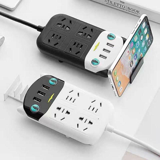 Ổ Điện Thông Minh USB Đa Chức Năng Có Khe Cắm Điện Thoại