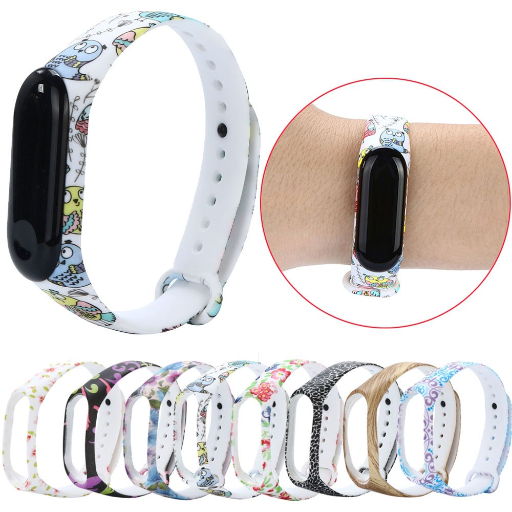 New Soft Silicone Replacement Wristband Wrist Strap For Xiao Mi Band 3 Bracelet