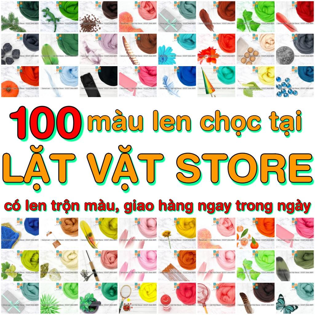 Bảng Màu Len Chọc 100 màu- Nguyên liệu để chọc len, Needle felting – Đồ Handmade thủ công