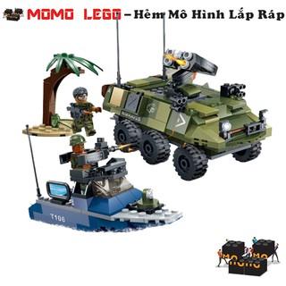 Đồ chơi mô hình lắp ráp lego – Xe Bọc Thép (Xe Thiết Giáp) Quân Sự