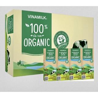Sữa Tiệt Trùng Vinamilk 100% Organic 180ML Không Đường( Thùng 48 hộp)