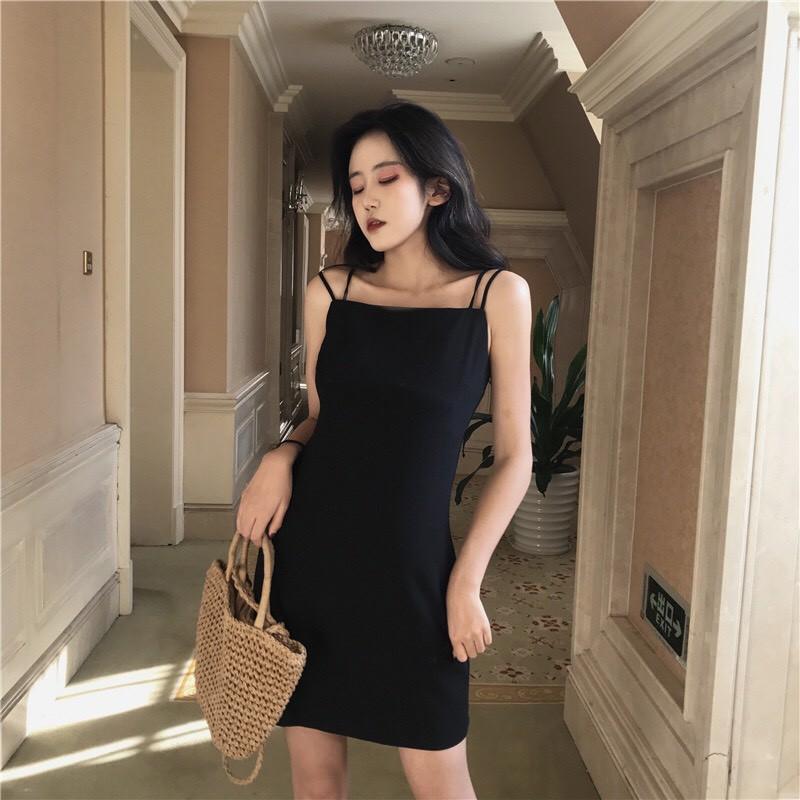 Váy 2 Dây 💖FREESHIP💖 Giảm 10k nhập mã [ VAY DAI ] 💖 Váy 2 dây body Hàn Quốc xinh đẹp