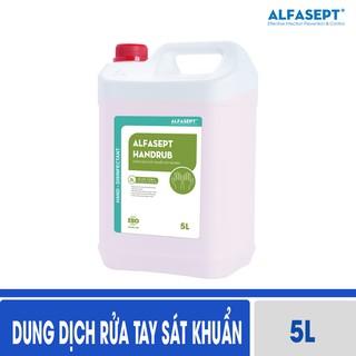 [Can 5L - Hàng đi từ nhà máy] - Dung dịch rửa tay sát khuẩn Alfasept Handrub 5L thumbnail