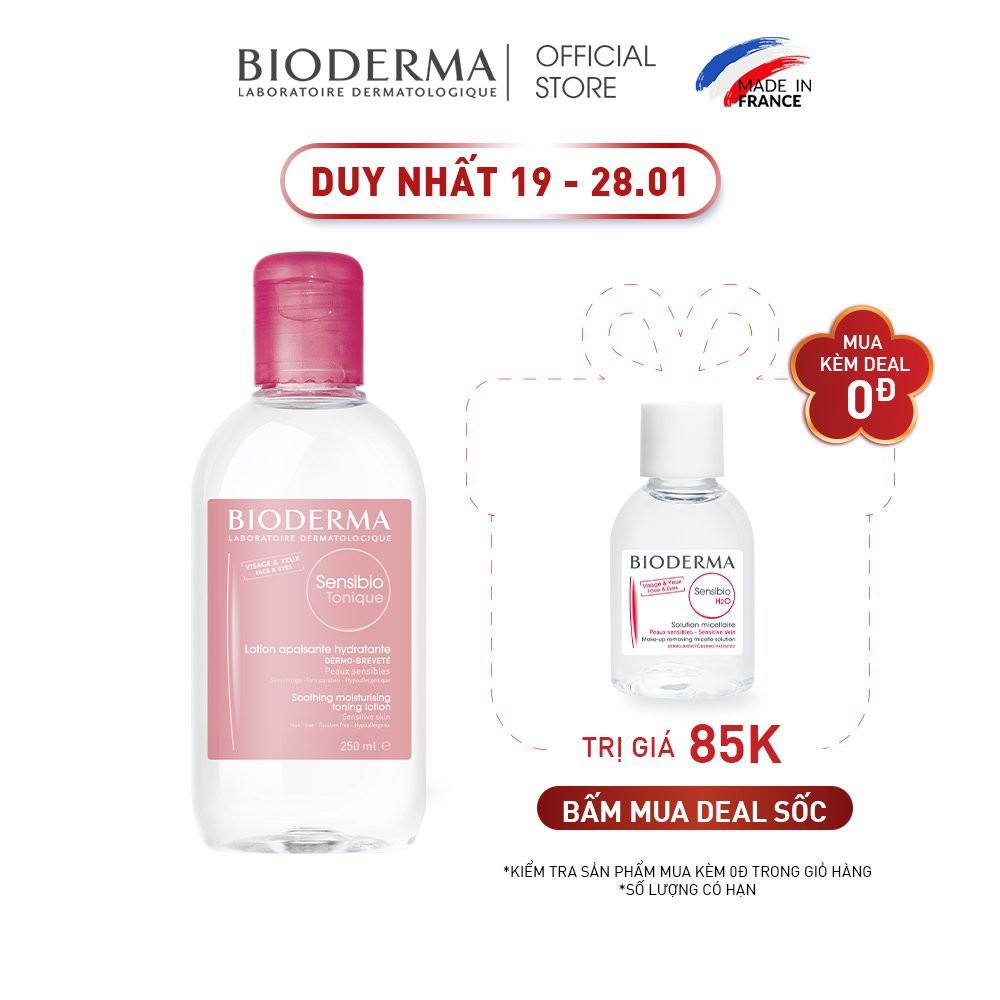 Dung dịch cân bằng dưỡng ẩm và làm dịu da Bioderma Sensibio Tonique - 250ml