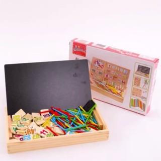 Bảng gỗ 2 mặt dạy bé học toán siêu tiện dụng