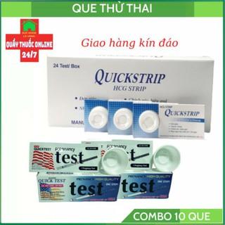 COMOBO 5 QUE THỬ THAI QUICK TEST + 5 QUE QUICKSTRIP