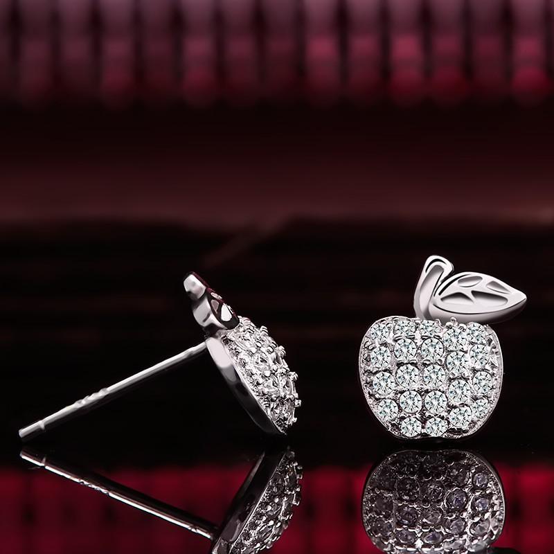 Bông tai bạc Little Apple Eropi - 15057538 , 299232469 , 322_299232469 , 303000 , Bong-tai-bac-Little-Apple-Eropi-322_299232469 , shopee.vn , Bông tai bạc Little Apple Eropi