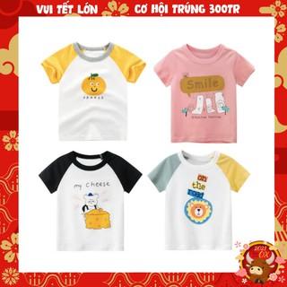 Áo thun bé gái  27home áo thun in hình TRÁI CAM chất liệu 100% cotton mềm mịn, hàng xuất Âu Mỹ