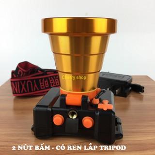 (Có ren lắp TRIPOD) Đèn Pin Đội Đầu bóng led ánh sáng mạnh chống nước kín nước Ánh sáng vàng hoặc trắng NO A395 thumbnail