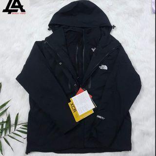 Áo khoác TNF 3 lớp ( full đen )