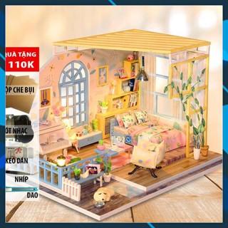 Mô hình nhà búp bê gỗ DIY Nhà búp bê lắp ghép Ánh Bình Minh S001 Toy World thumbnail