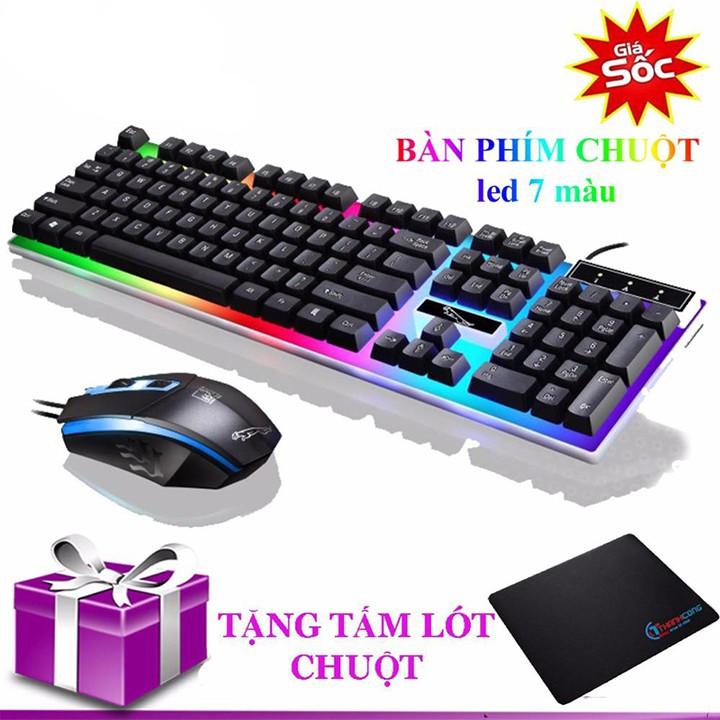Bàn phím G21 LED giả cơ game dụng- Bộ phím chuột giả cơ led chuyên game