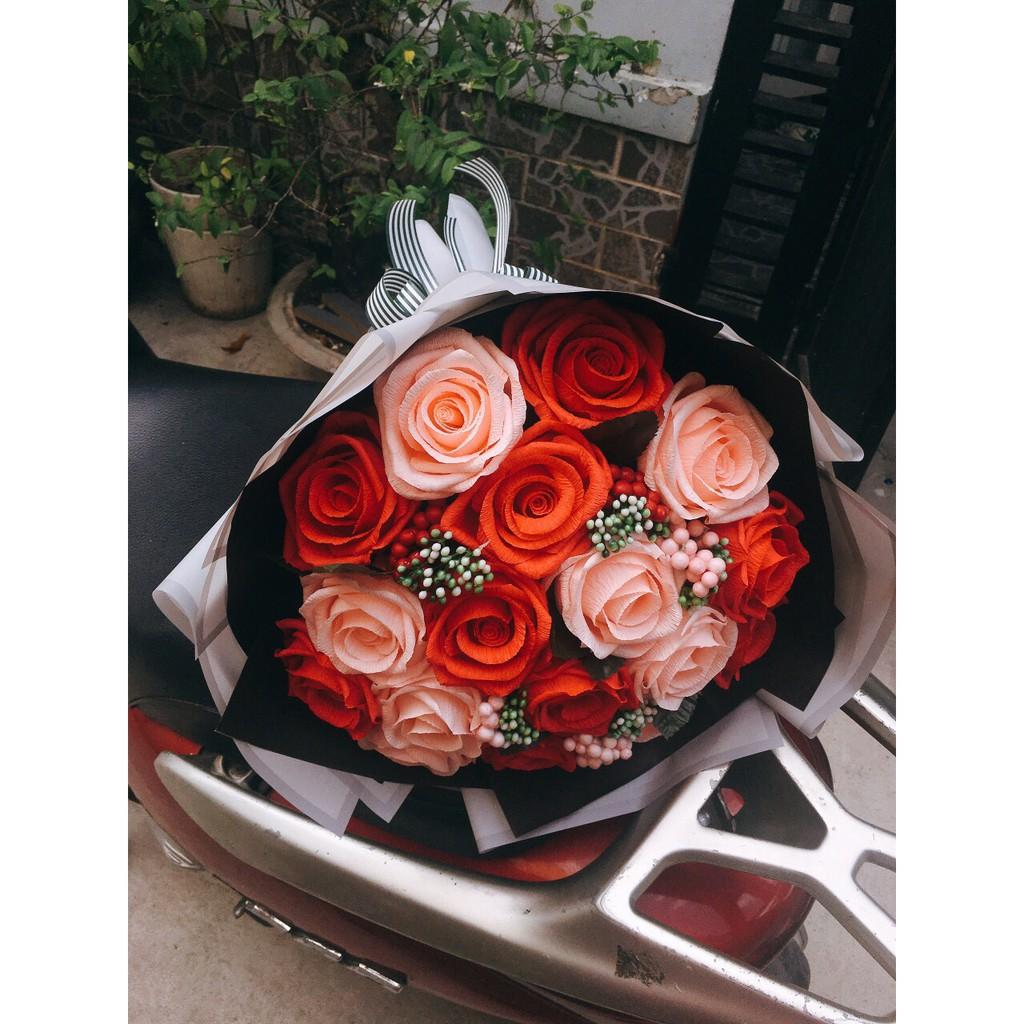 Bó hoa hồng to - hoa giấy
