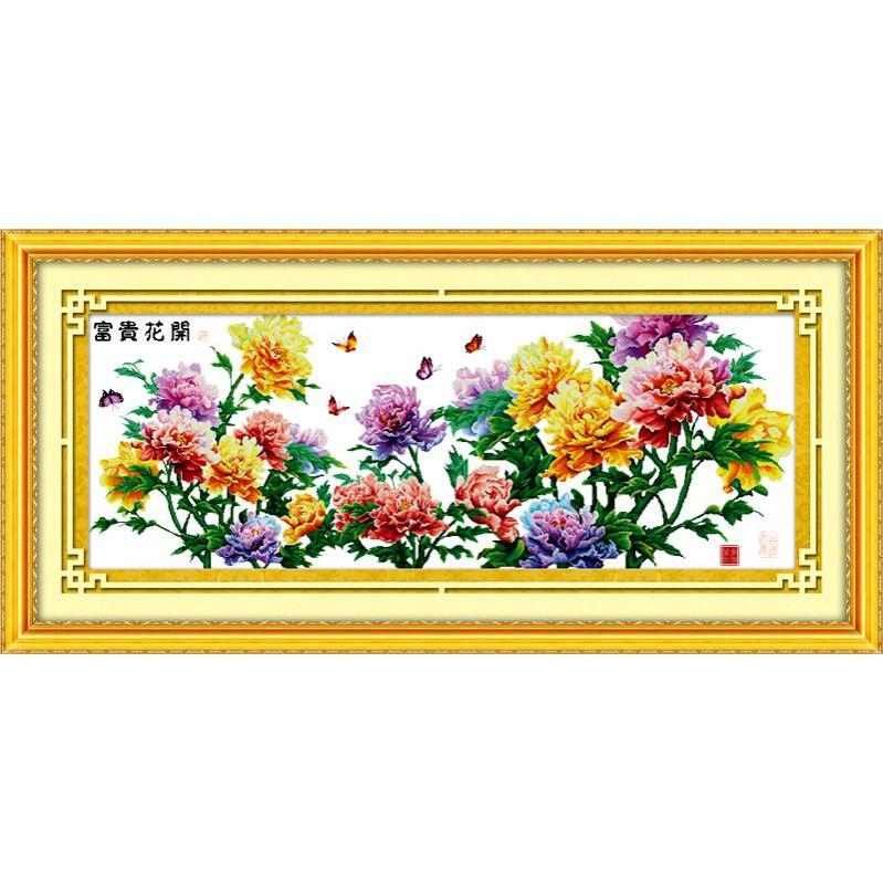 Hoa Nở Phú Quý-Xuân (Vải In Sẵn 100%)
