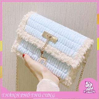 [Có video hướng dẫn] Túi tự đan len phối màu, set nguyên liệu đan túi thumbnail