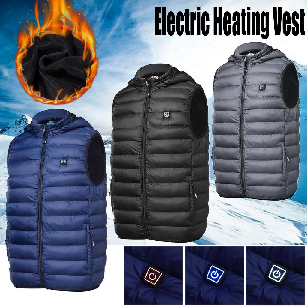 Upgraded USB Electric Heated Vest Winter Heating Thermal Jacket Clothes Coat