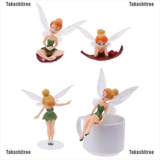 Takashitree✐4pcs Fairy Miniature Figurine Dollhouse Garden Decoration beautiful toys