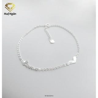 Lắc chân bạc Ý 925 Huệ Ngân - Love in Love RYBJ50042