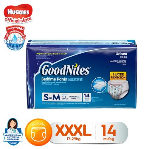 Tã quần ban đêm Goodnites XXXL 14 cho bé từ 17-29kg (Hàng Nhập Khẩu Mỹ) - 036000456097 - 3426473 , 768595214 , 322_768595214 , 213000 , Ta-quan-ban-dem-Goodnites-XXXL-14-cho-be-tu-17-29kg-Hang-Nhap-Khau-My-036000456097-322_768595214 , shopee.vn , Tã quần ban đêm Goodnites XXXL 14 cho bé từ 17-29kg (Hàng Nhập Khẩu Mỹ) - 036000456097