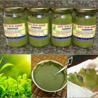 Bột trà xanh nguyên chất Quảng Trị 200gr handmade theo quy trình khép kín thumbnail