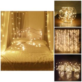 [TỪ 99K] Dây đèn Fairy Lights trang trí cao cấp 10m cắm điện + tặng kèm Fairy Light 5m màu vàng nắng